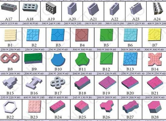 BLOCK MOULD SAMPLES