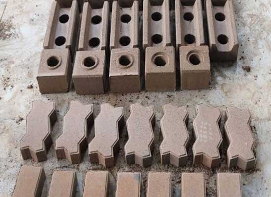 Clay brick samples
