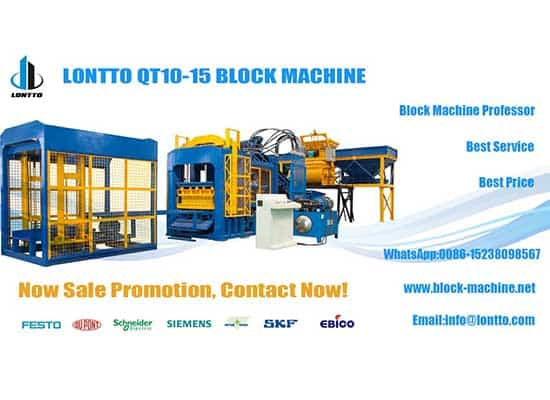 QT10-15 Hollow block machine