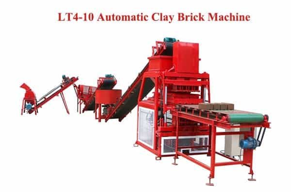LT4-10 Automatic clay Brick Machine
