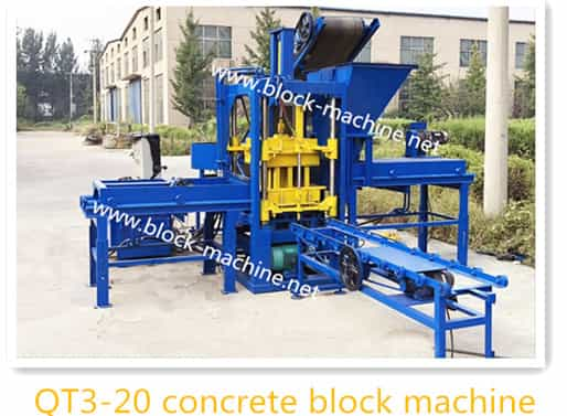 QT3-20 hydraulic block machine