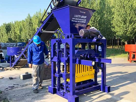 LMT4-35 concrete block machine for sale