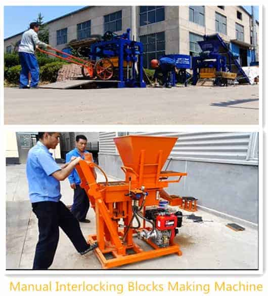 manual interloking block machine