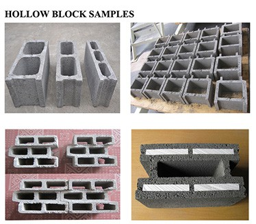 concrete hollow block samples