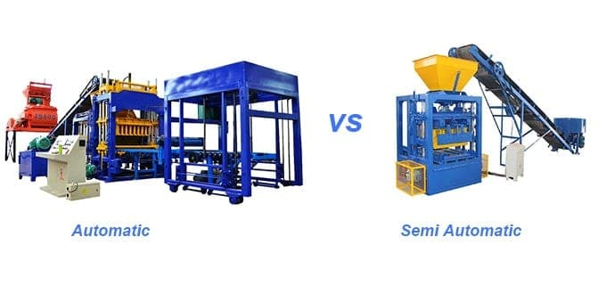 SEMI AUTOMATIC block making machine vs automatic block machine