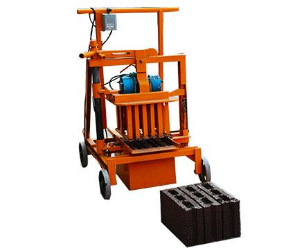 QMJ2-40 Simple Mobile Concrete Block Machine
