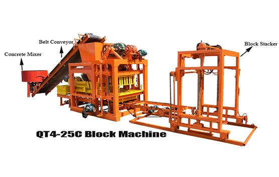autoamtic concrete block making machine QT4-25C