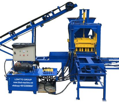 automatic concrete block machine lontto qt3-20