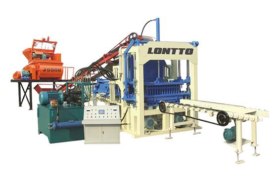 automatic concrete brick machine QT4-15