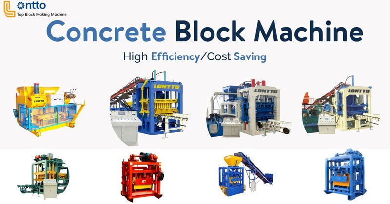 concrete block press machine
