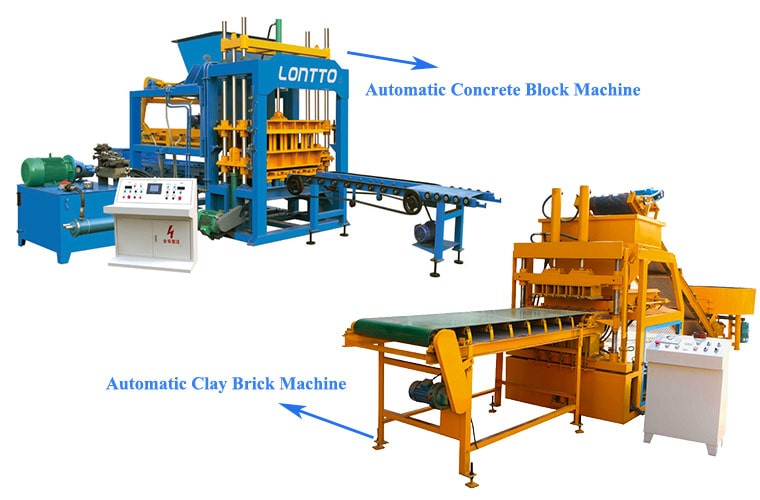 concrete brick press machine and clay brick press machine