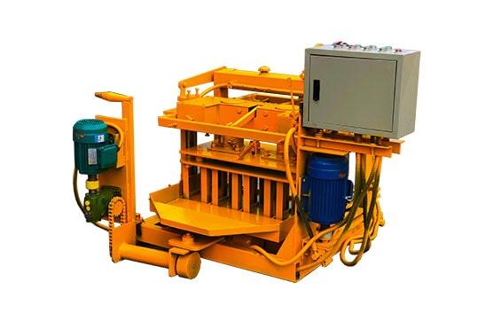 simple mobile concrete block machine